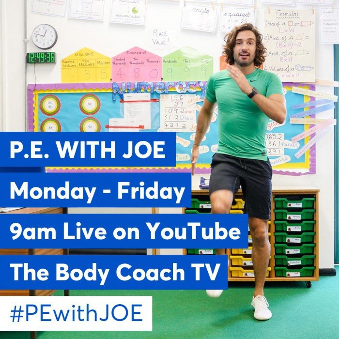 Joe Wicks PE classes for children
